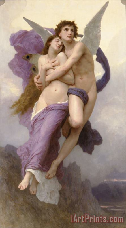 The Abduction of Psyche painting - William Adolphe Bouguereau The Abduction of Psyche Art Print
