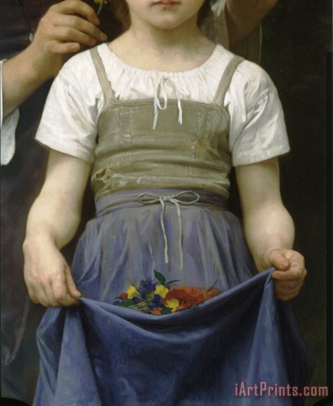 The Jewel of The Fields painting - William Adolphe Bouguereau The Jewel of The Fields Art Print