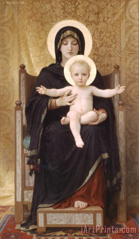 The Seated Madonna painting - William Adolphe Bouguereau The Seated Madonna Art Print