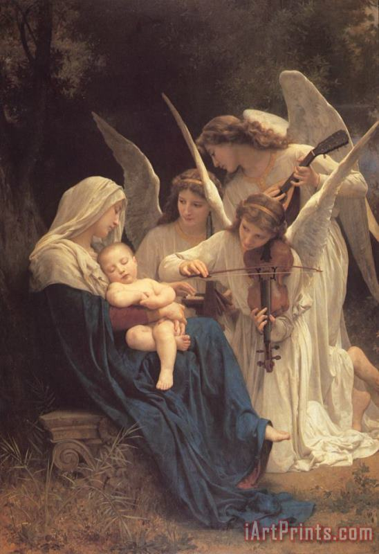 The Virgin with Angels painting - William Adolphe Bouguereau The Virgin with Angels Art Print