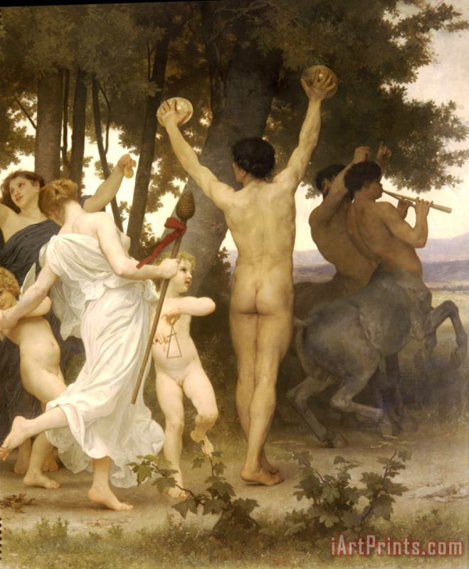 The Youth of Bacchus painting - William Adolphe Bouguereau The Youth of Bacchus Art Print