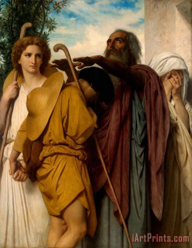Tobias Saying Goodbye to His Father painting - William Adolphe Bouguereau Tobias Saying Goodbye to His Father Art Print