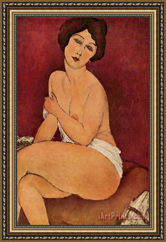 Amedeo Modigliani Seated Female Nude Framed Print