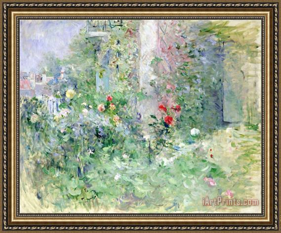 Berthe Morisot The Garden at Bougival Framed Print