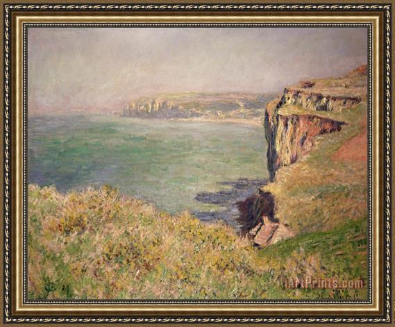 Claude Monet Cliff at Varengeville Framed Print