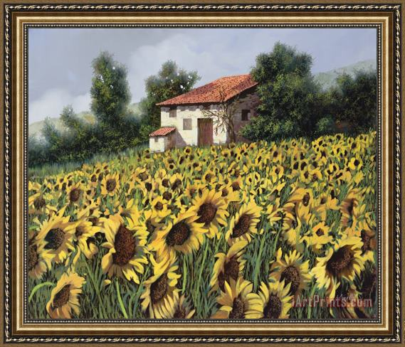 Collection 7 I Girasoli Nel Campo Framed Print