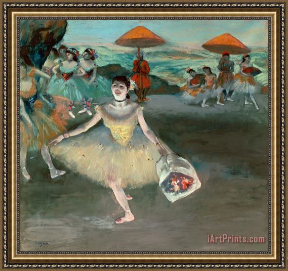 Edgar Degas Dancer with Bouquet Framed Print