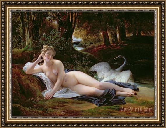 Francois Edouard Picot Leda and the Swan Framed Print