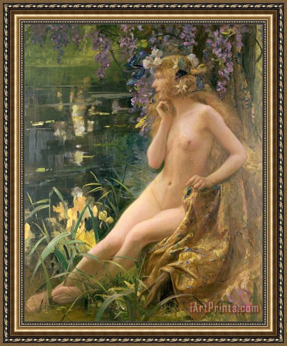 Gaston Bussiere Water Nymph Framed Print
