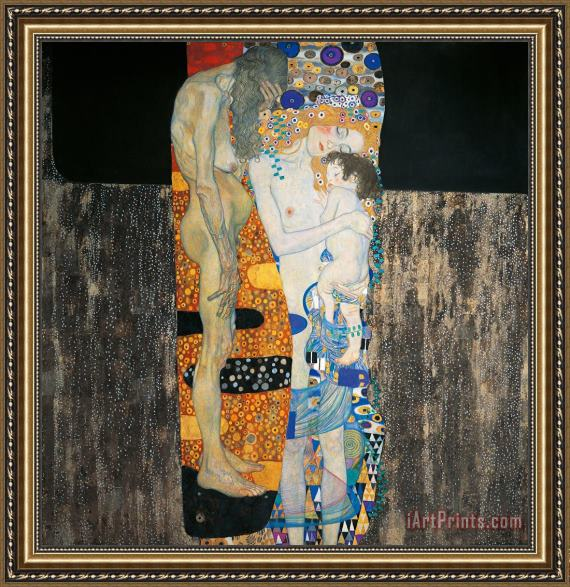 Gustav Klimt The Three Ages Of Woman Framed Print