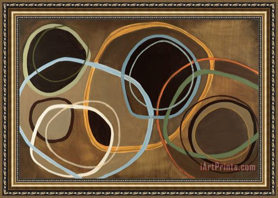Jeni Lee 14 Friday II Brown Circle Abstract Framed Print