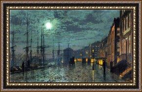 """/""""Lovers in Moonlight/"""" by John Atkinson Grimshaw"""