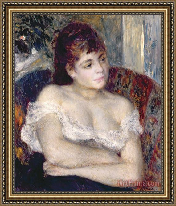 Pierre Auguste Renoir Woman in an Armchair Framed Print