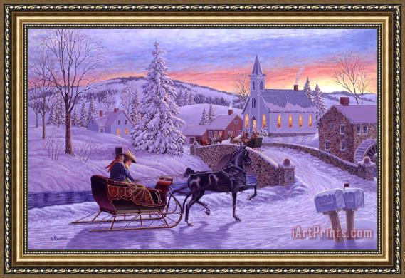 Richard De Wolfe An Old Fashioned Christmas Framed Painting