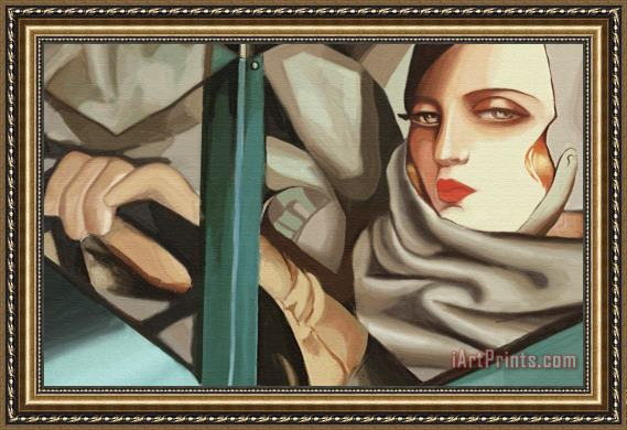 tamara de lempicka self portrait in the green bugatti (detail