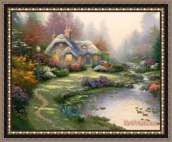 Thomas Kinkade Everett's Cottage Framed Print