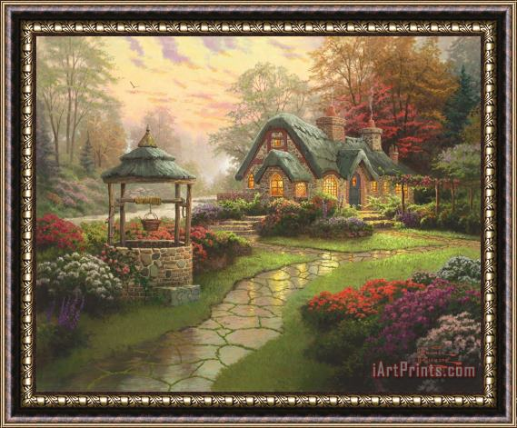 Thomas Kinkade Make a Wish Cottage Framed Print