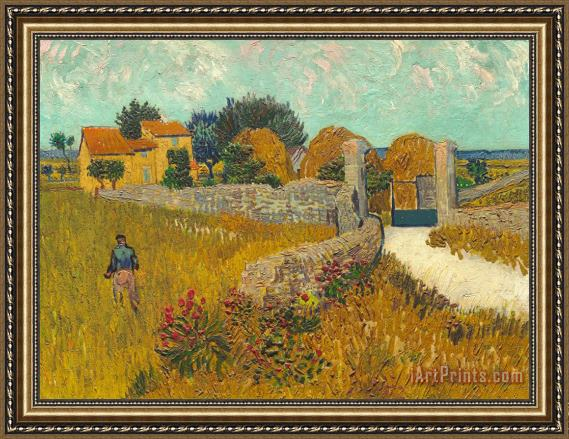 Vincent van Gogh Farmhouse In Provence Framed Print