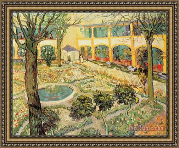 Vincent Van Gogh The Asylum Garden At Arles Framed Print