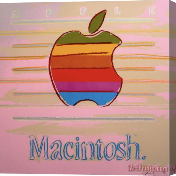 Andy Warhol Apple Macintosh Stretched Canvas Painting / Canvas Art