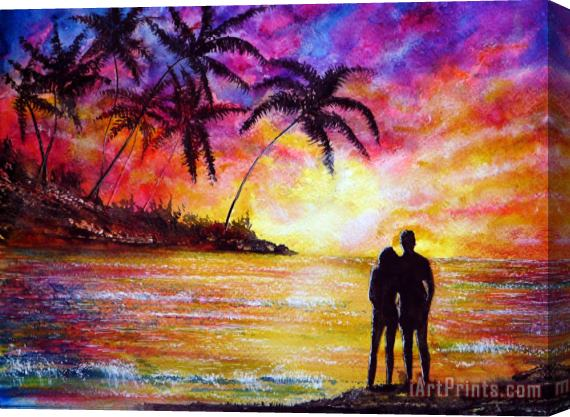 Collection 9 Romance Stretched Canvas Print / Canvas Art