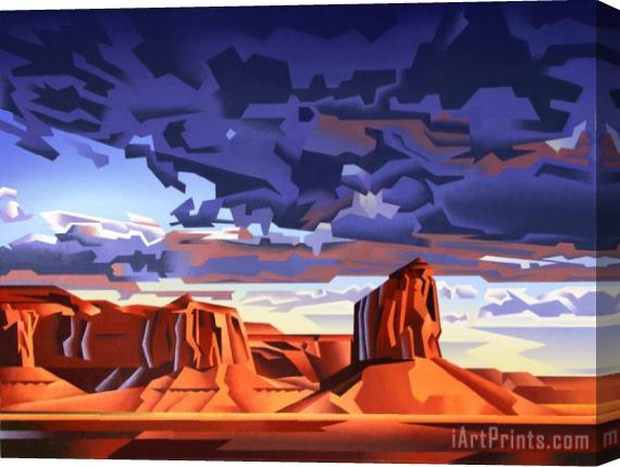 Collection Monument Valley Storm Stretched Canvas Painting / Canvas Art