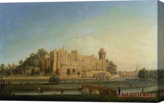 Francis Harding Warwick Castle Stretched Canvas Painting / Canvas