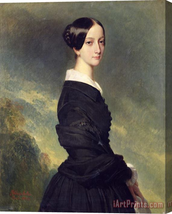 Franz Xaver Winterhalter Portrait of Francisca Caroline de Braganca Stretched Canvas Print / Canvas Art