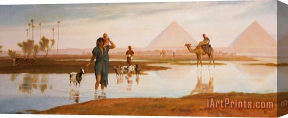 Frederick Goodall Overflow of the Nile Stretched Canvas Print / Canvas Art
