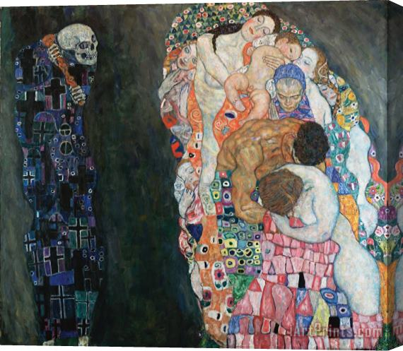 Gustav Klimt Death And Life Stretched Canvas Print / Canvas Art