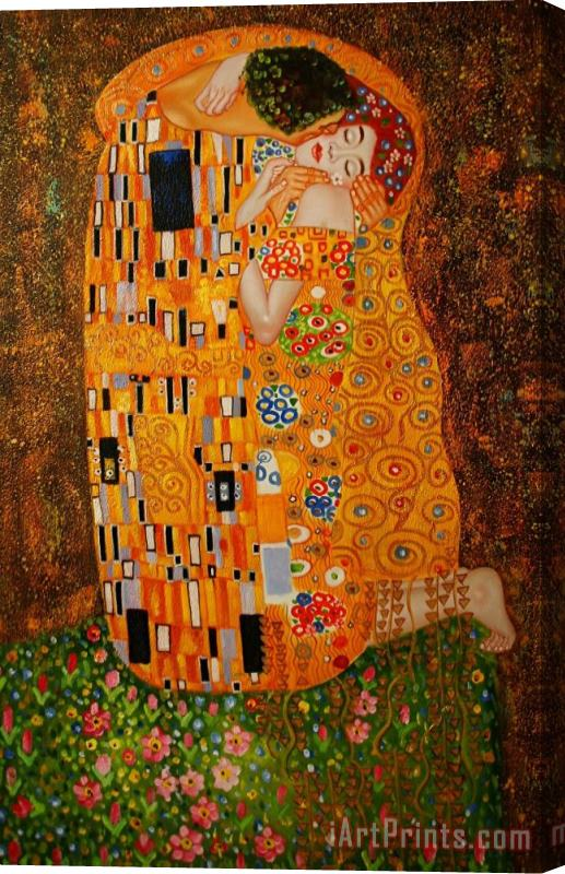 Gustav Klimt The Kiss Stretched Canvas Print Canvas Art For Sale