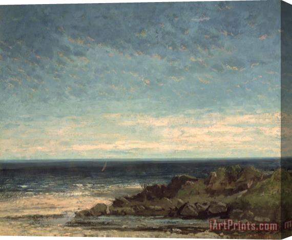 Gustave Courbet The Sea Stretched Canvas Print / Canvas Art