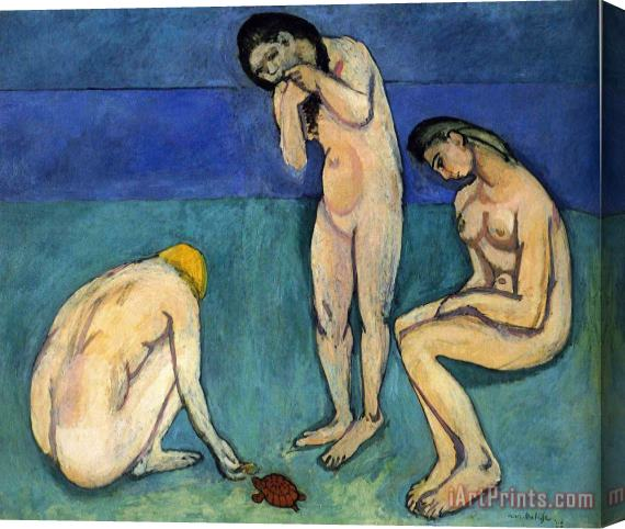 Henri Matisse Bathers with a Turtle 1908 Stretched Canvas Print / Canvas Art