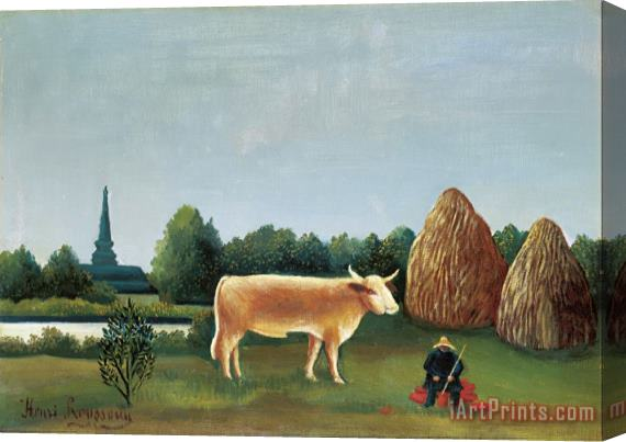 Henri Rousseau Scene in Bagneux on The Outskirts of Paris Stretched Canvas Print / Canvas Art
