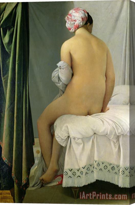 Jean Auguste Dominique Ingres The Bather Stretched Canvas Print / Canvas Art