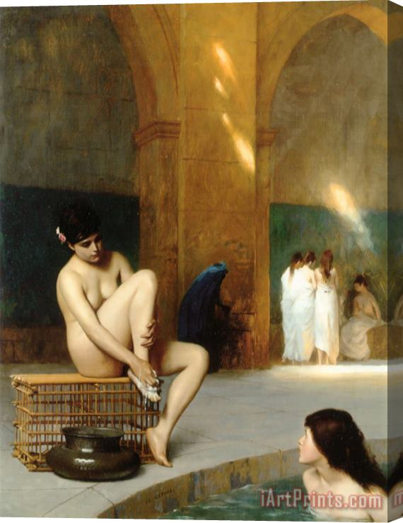 Jean Leon Gerome Nude Woman Stretched Canvas Print / Canvas Art