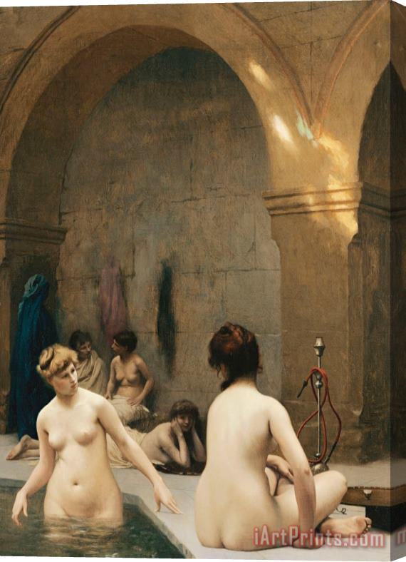 Jean Leon Gerome The Bathers Stretched Canvas Print / Canvas Art