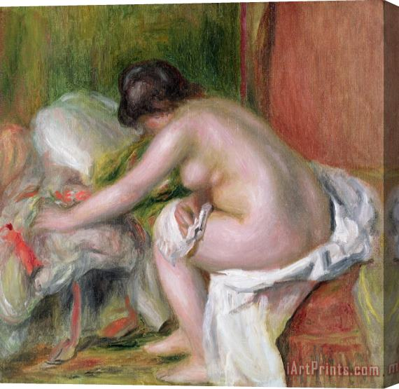 Pierre Auguste Renoir Seated Bather Stretched Canvas Print / Canvas Art
