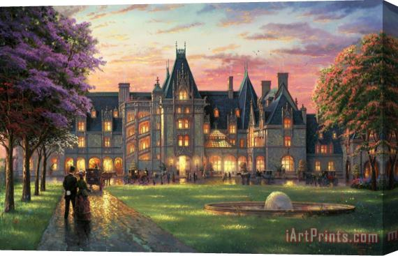 Thomas Kinkade Elegant Evening at Biltmore Stretched Canvas Print / Canvas Art