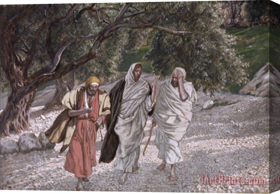 Tissot The Disciples on the Road to Emmaus Stretched Canvas Print / Canvas Art