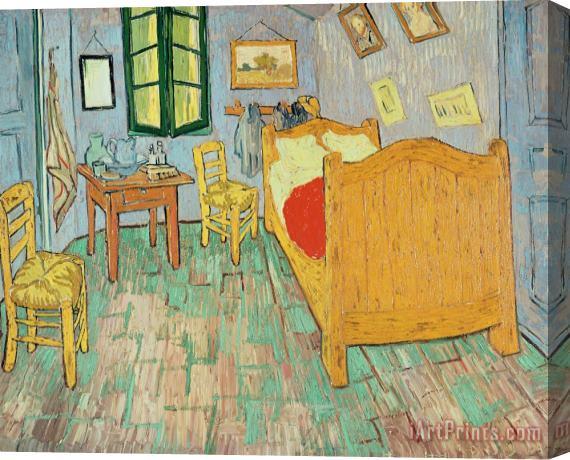 Vincent Van Gogh Van Goghs Bedroom At Arles Stretched Canvas Print For Sale