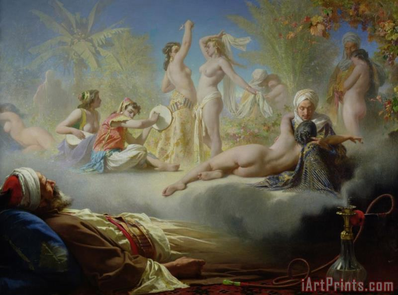 The Dream of the Believer painting - Achille Zo The Dream of the Believer Art Print