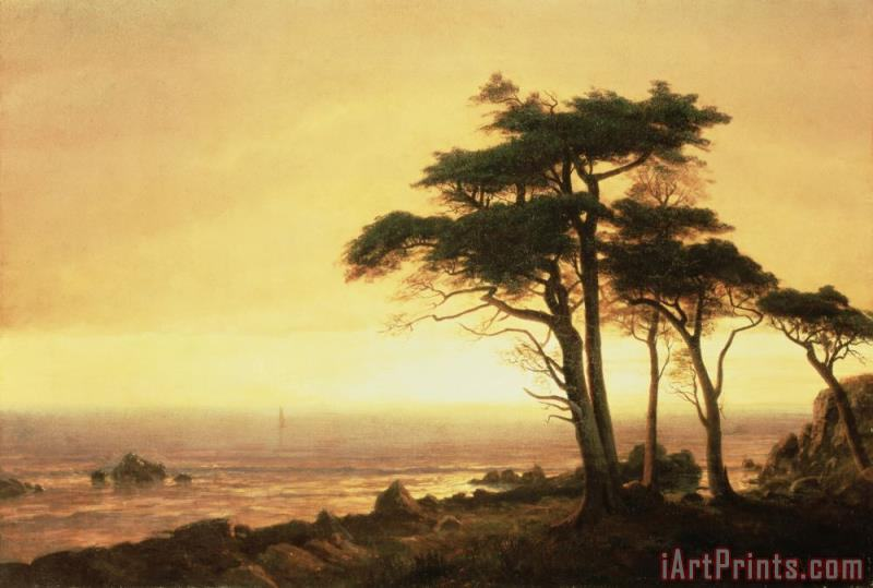 California Coast painting - Albert Bierstadt California Coast Art Print