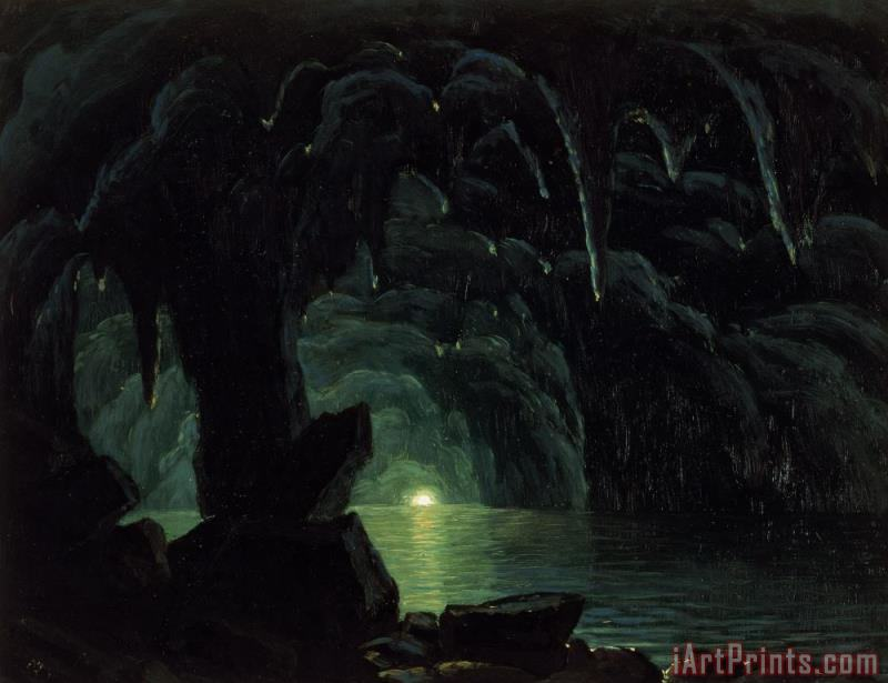 Albert Bierstadt The Blue Grotto Art Print