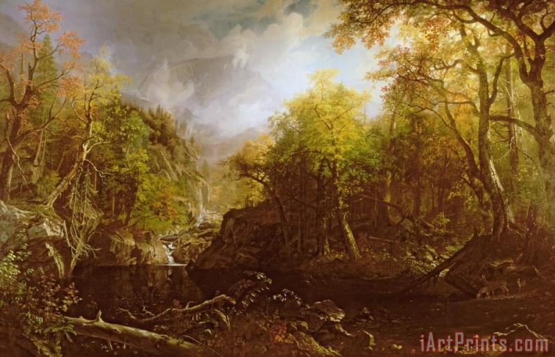 Albert Bierstadt The Emerald Pool Art Print
