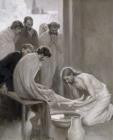 Albert Prints - Jesus Washing The Feet Of His Disciples by Albert Gustaf Aristides Edelfelt
