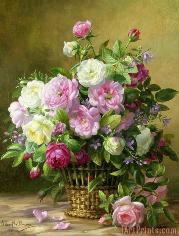 Albert Williams Roses Art Print