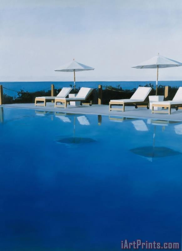 alessandro raho l a swimming pool painting l a. Black Bedroom Furniture Sets. Home Design Ideas