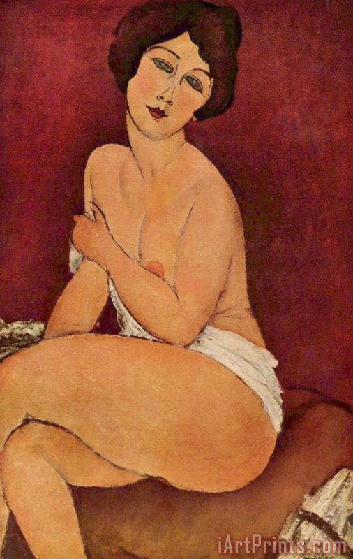 Amedeo Modigliani Seated Female Nude Art Painting
