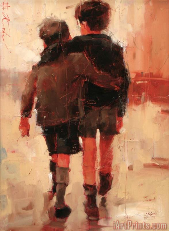 Andre Kohn Friends Painting Friends Print For Sale